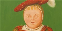 after holbein [detail] by fernando botero